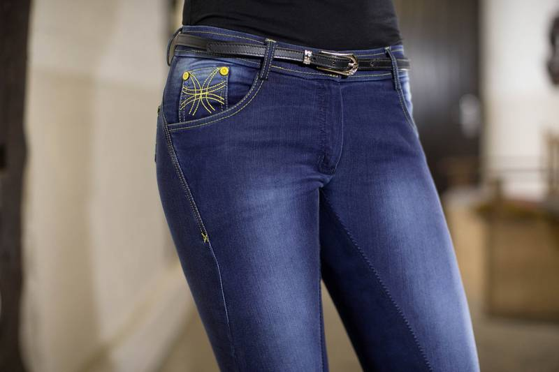 Výpredaj - Rajtky denim FLASH JEGGINGS 3/4 sed ALOS, HKM Pro-Team