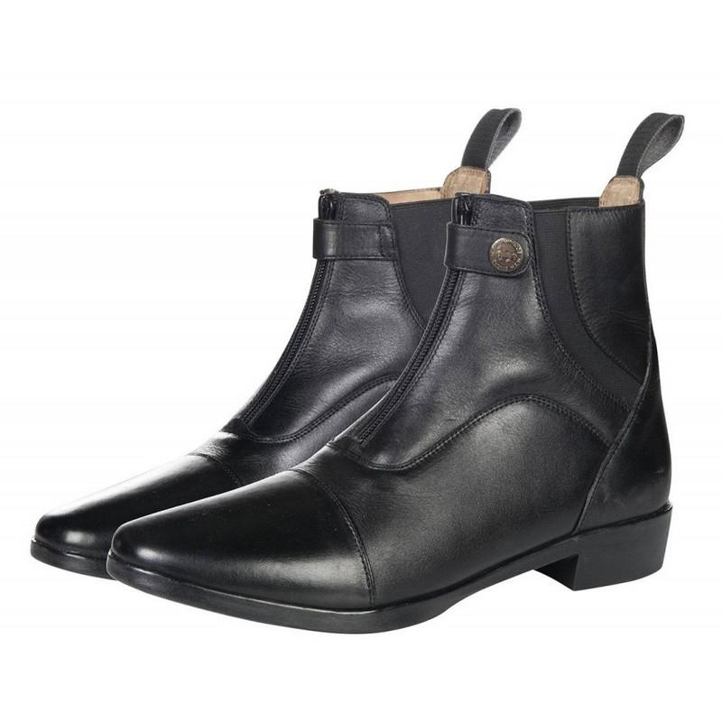 43194e62d Jazdecké kožené topánky, zips v predu, LUZERN
